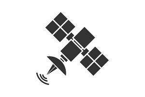 Satellite signal glyph icon