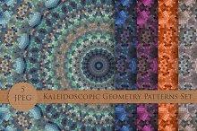 Kaleidoscopic Geometry Patterns Set