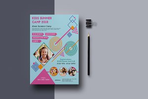 Kids Summer Camp Flyers-V823