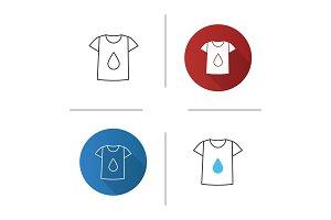 Printing on t-shirt icon