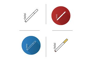 Burning cigarette icon