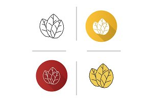 Tobacco leaves icon
