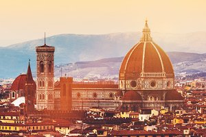 Skyline of Florence, Italy. Cathedra