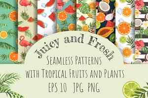 Juicy and Fresh. Set of Patterns