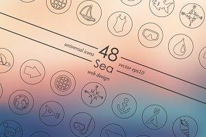 48 Sea icons