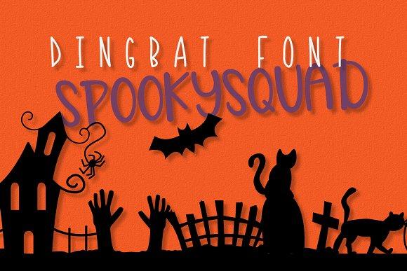 SpookySquad - Halloween Dingbat Font