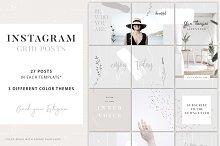 Instagram Grid Posts - 3 Themes