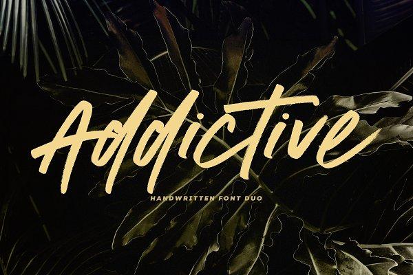 Addictive | Font Duo