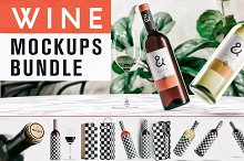 Wine Mockup Bundle by  in Product Mockups