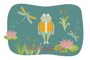 Frog Vector Set