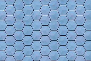 Hexagonal grid seamless texture