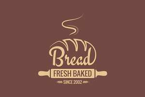 Bread logo for bakery vector