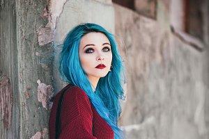 Beautiful grunge (rock) girl