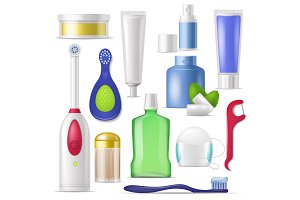 Dental hygiene vector toothbrush and