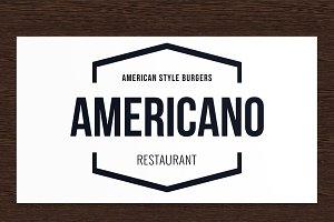 Americano Restaurant Logo - PSD