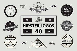 40 HIPSTER LOGO SET
