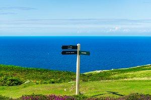 Llandudno Sea Front in North Wales,