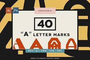 "CHEAP! 40 ""A"" marks for custom logos"