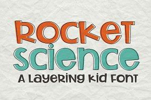 Rocket Science Layering Font