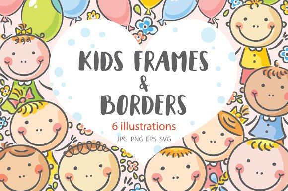 Kids frames and borders ~ Illustrations ~ Creative Market