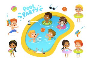 Pool Party Characters