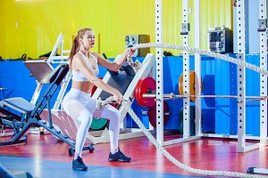 Fitness woman working out with