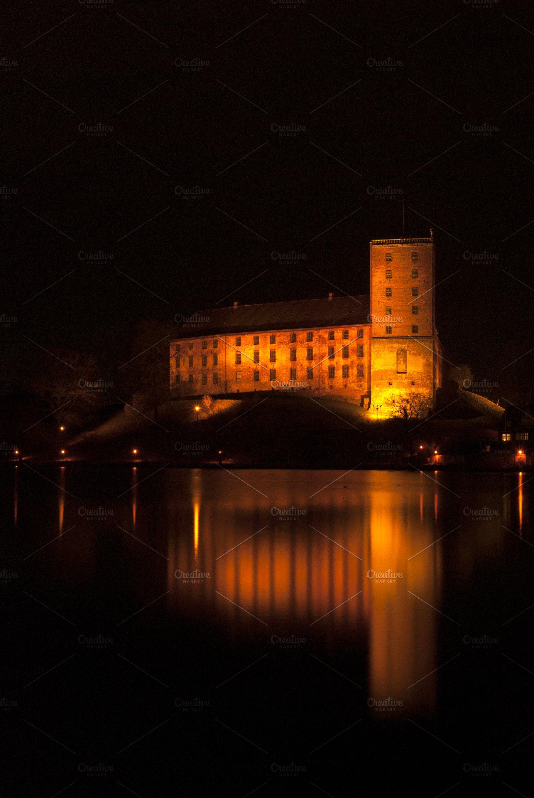 Kolding Castle At Night Architecture Photos Creative Market