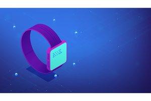 Smart watch interface. Isometric