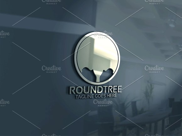 Round Tree Logo in Logo Templates - product preview 1