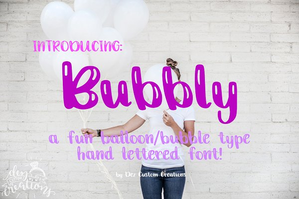 Bubbly - A Hand lettered Font