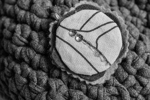 Crochet Purse Detail in Black White
