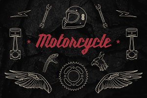 Vintage Motorcycle Elements