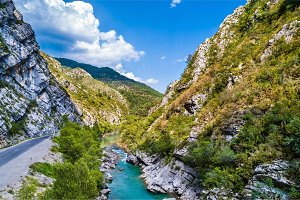 View of the Verdon river in France