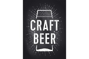 Craft Beer. Poster or banner
