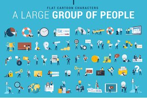 Flat Design Business People Icons