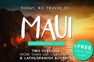 Maui - 2 Versions Handwritten Font