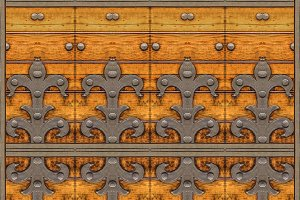 Medieval Ornate Door Background