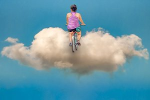 Driving to Heaven Conceptual Photo