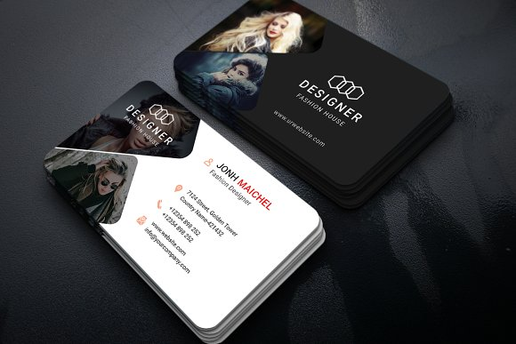 Fashion Business Card Vol 02 Creative Photoshop Templates Creative Market
