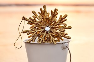 Golden Christmas Snowflake