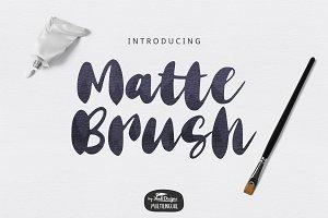 Matte Brush Bold Script