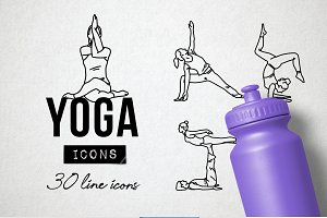 Fitness and Yoga Icons Pack
