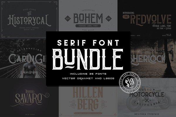 Serif Font Bundle