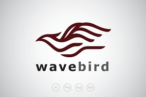 Wave Bird Logo Template