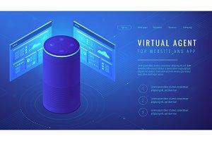 Isometric virtual agent landing page