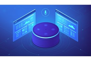 Isometric voice control website and