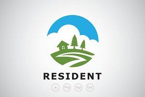 Green Resident Logo Template