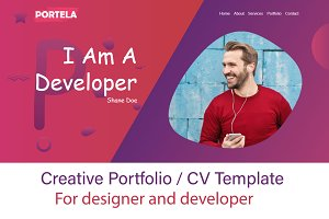 Portela Creative Portfolio Template