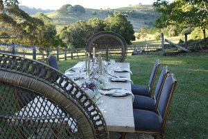 Outdoor Dining with Mountain View