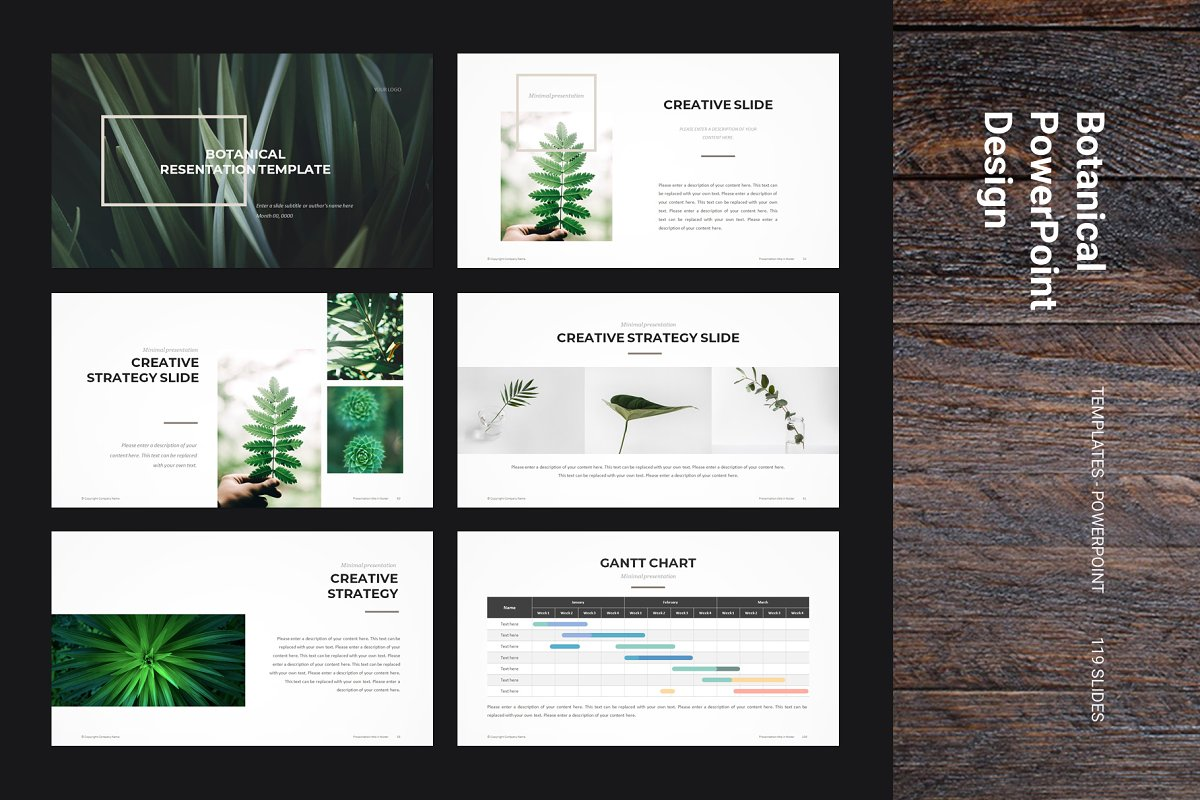 Botanical Powerpoint Template Powerpoint Templates
